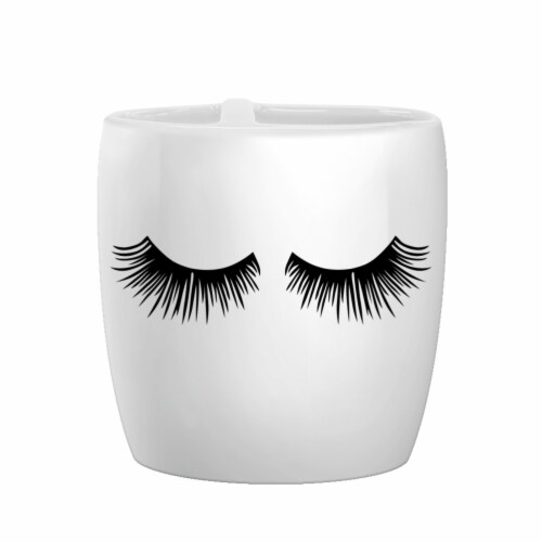 Allure Lashes Cosmetique Toothbrush Holder - White Perspective: front