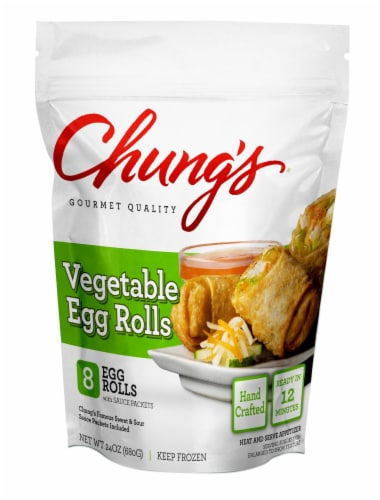 Chung's Vegetable Egg Rolls with Sweet and Sour Sauce Perspective: front