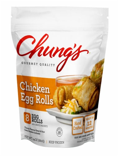 Chung's® Chicken Egg Rolls Perspective: front