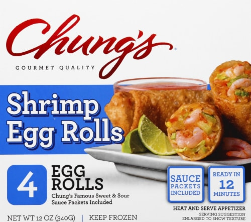 Chung's Shrimp Egg Rolls Perspective: front