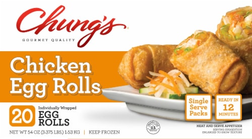 Chung's Chicken Egg Rolls Perspective: front