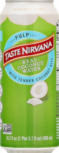 Taste Nirvana Real Coconut Water with Pulp Perspective: front