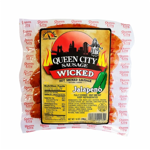 Queen City Sausage Wicked Jalapeno Smoke Sausage Perspective: front