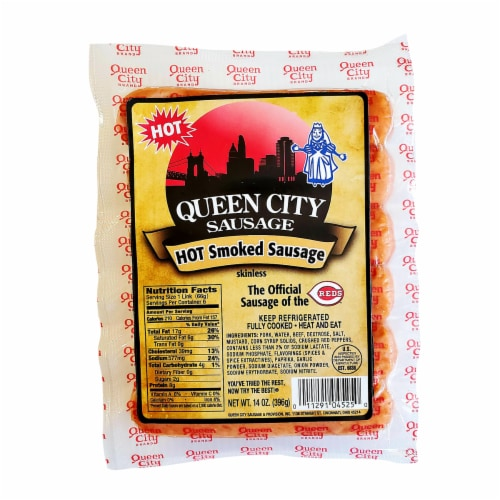 Queen City Sausage Hot Smoked Sausage Perspective: front