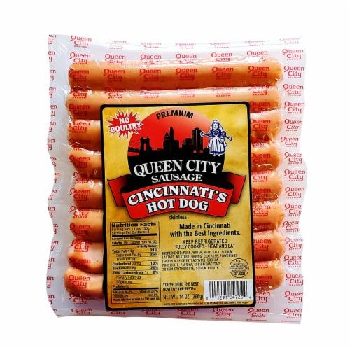 Queen City Sausage Premium Cincinnati's Hot Dogs Perspective: front