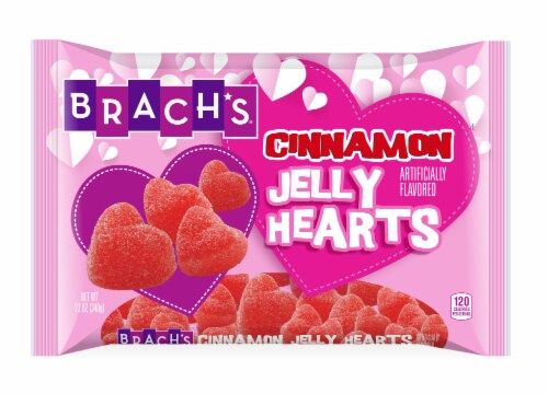 Brach's Valentine's Cinnamon Jelly Hearts Perspective: front