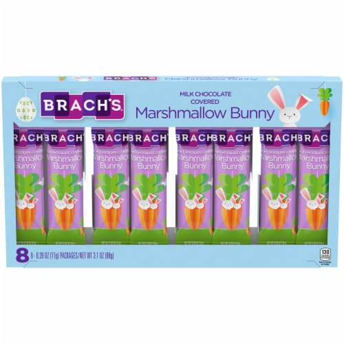 Brach's Milk Chocolate Covered Marshmallow Bunny Easter Candy Perspective: front