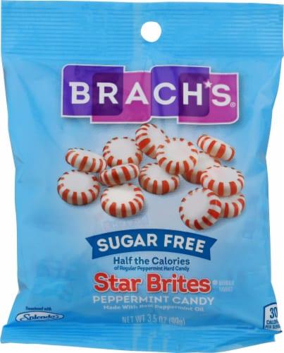 Brach's Sugar Free Star Brites Peppermint Candies Perspective: front