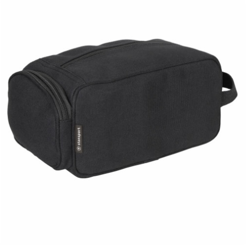 Stansport Cotton Canvas Travel Accessory Bag - Black Perspective: front