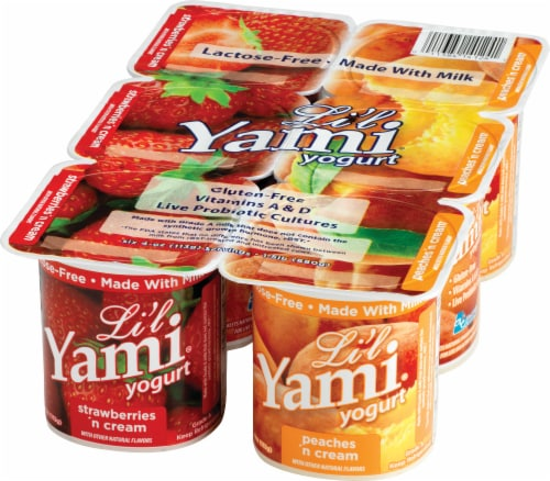 Li'l Yami Strawberries 'n Cream & Peaches 'n Cream Yogurt Perspective: front