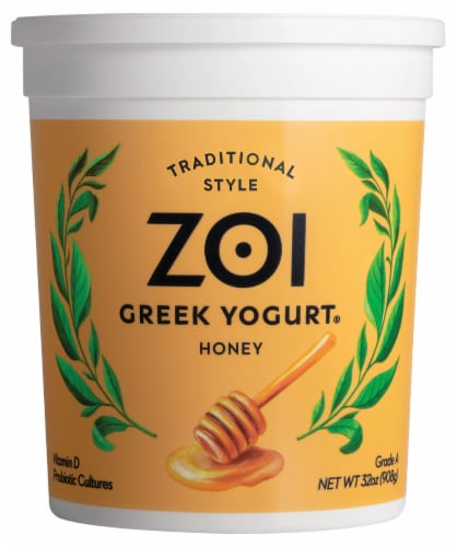 Zoi Honey Greek Yogurt Perspective: front