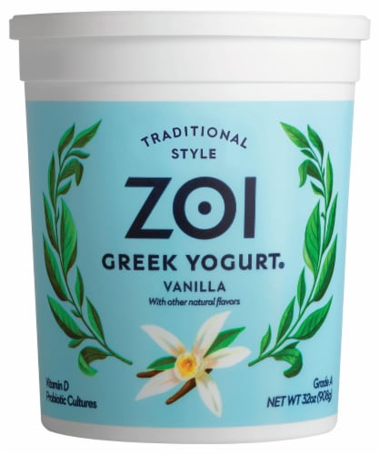 Zoi Vanilla Greek Yogurt Perspective: front