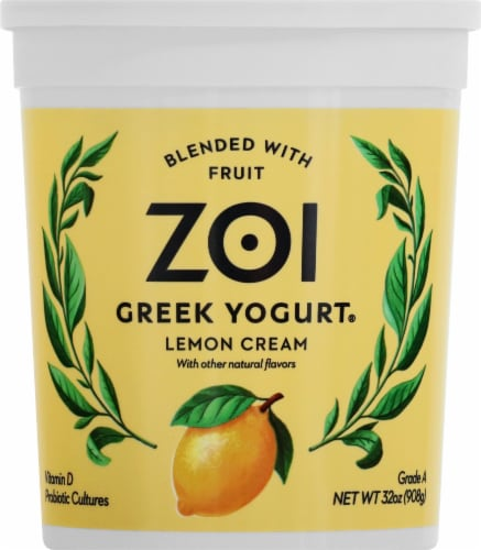 Zoi Lemon Cream Greek Yogurt Perspective: front