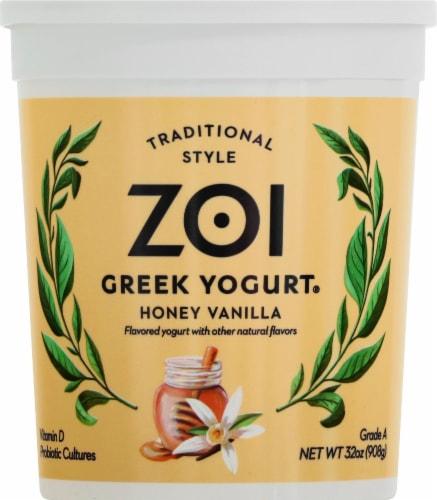 Zoi Honey Vanilla Greek Yogurt Perspective: front