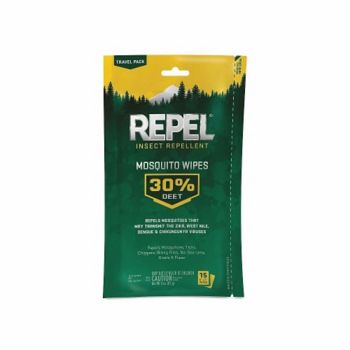 Repel® Insect Repellent Mosquito Wipes Perspective: front