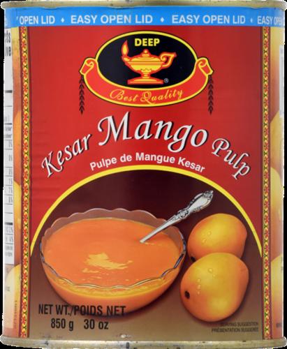 Deep Foods Kesar Mango Pulp Perspective: front