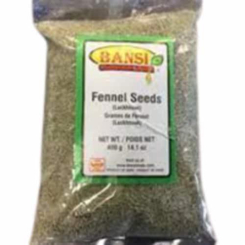 Bansi Luckhnowi Fennel Seeds - 400 Gm Perspective: front