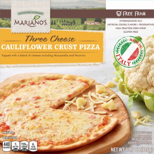 Mariano's Three Cheese Cauliflower Crust Pizza Perspective: front