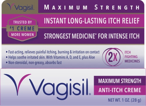 Vagisil Maximum Strength Anti-Itch Creme Perspective: front