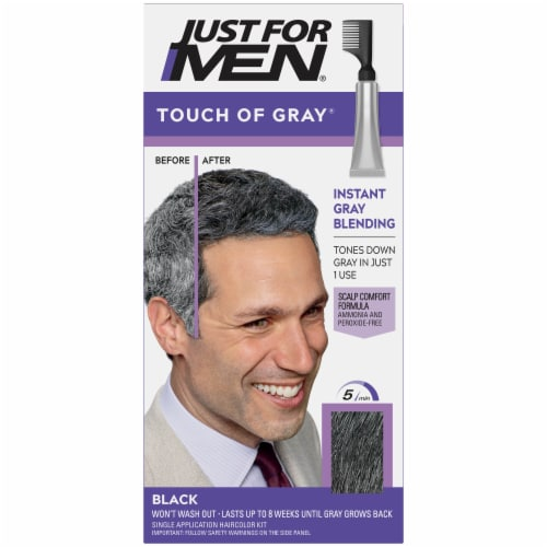 Just For Men Touch of Gray T-55 Black Hair Color Kit Perspective: front