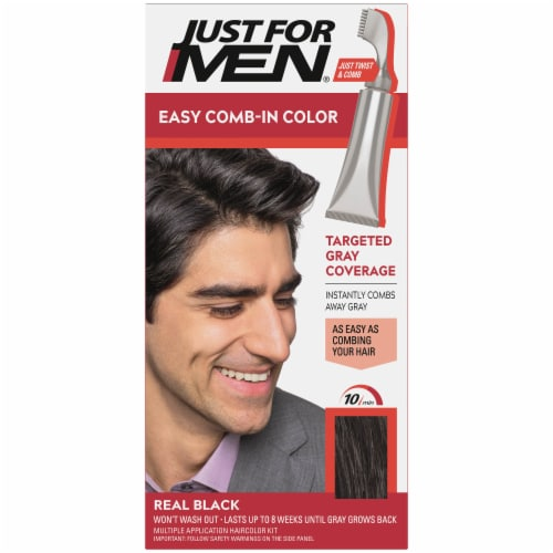 Just For Men AutoStop A-55 Real Black No-Mix Hair Color Perspective: front