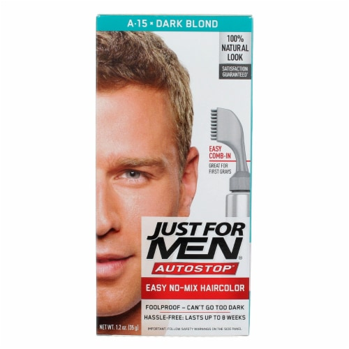 Just For Men AutoStop Comb-In A-15 Dark Blonde Hair Color Perspective: front