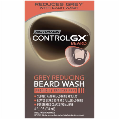Just For Men Control GX Grey Reducing Beard Wash Perspective: front
