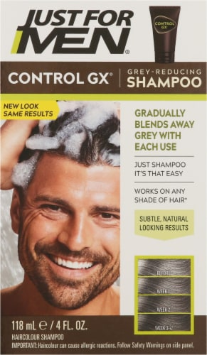 Just For Men ControlGX Grey Reducing Hair Color Shampoo Perspective: front