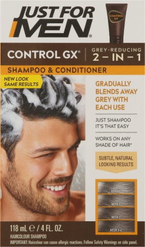 Just for Men Control GX Gray Reducing 2-in-1 Shampoo and Conditioner Perspective: front