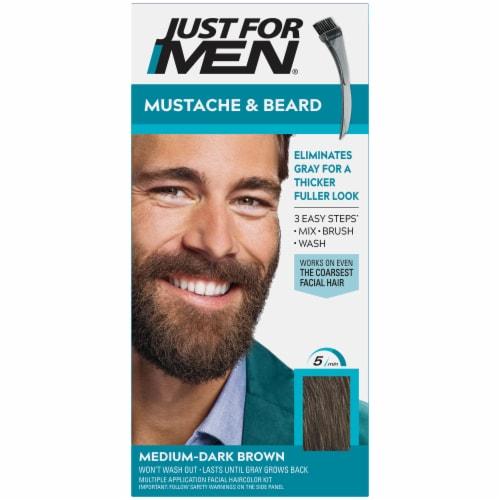 Just For Men Mustache & Beard M-40 Medium-Dark Brown Hair Color Perspective: front