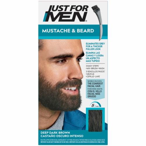 Just For Men Mustache & Beard M-46 Deep Dark Brown Color Gel Perspective: front