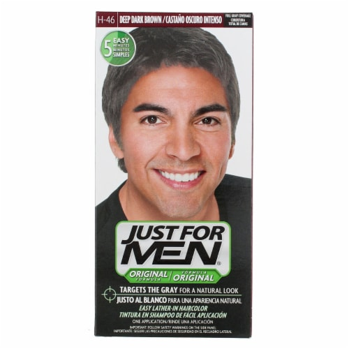 Just For Men Original Formula H-46 Deep Dark Brown Shampoo-In Haircolor Perspective: front