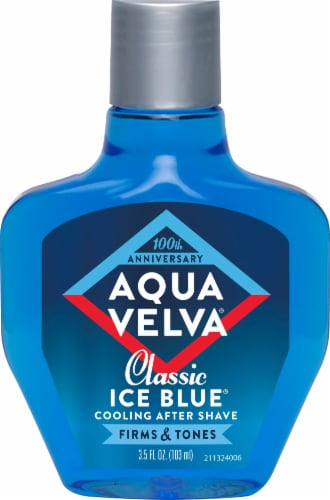 Aqua Velva Classic Ice Blue Cooling After Shave Perspective: front