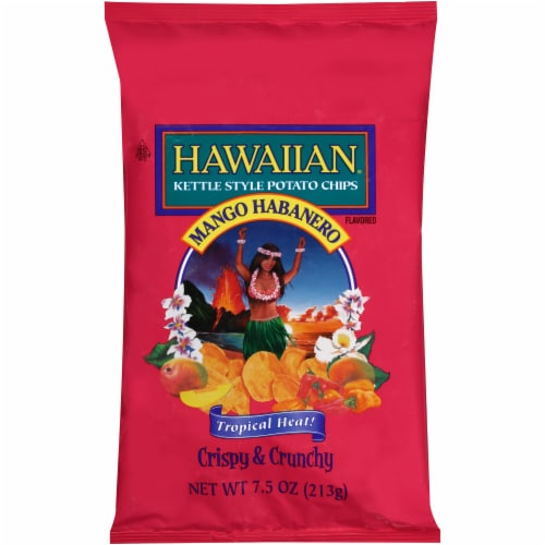 Hawaiian Mango Habanero Kettle Style Potato Chips Perspective: front