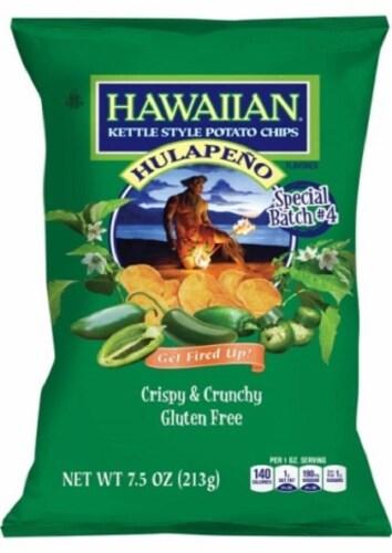 Hawaiian Hulapeno Kettle Potato Chips Perspective: front