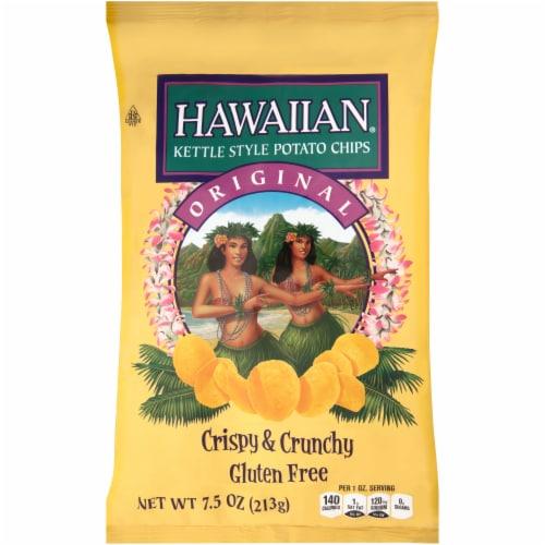 Hawaiian Original Crispy & Crunchy Gluten Free Kettle Style Potato Chips Perspective: front