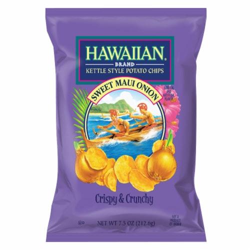 Hawaiian Crispy & Crunchy Sweet Maui Onion Kettle Style Potato Chips Perspective: front