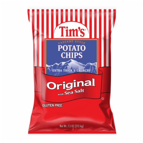 Tims Original Lightly Salted Potato Chips Perspective: front