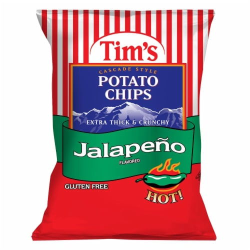 Tim's Extra Thick & Crunchy Jalapeno Cascade Style Potato Chips Perspective: front