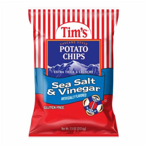 Tim's Sea Salt & Vinegar Potato Chips Perspective: front