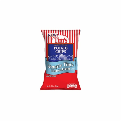 Simply Tim's Unsalted Potato Chips Perspective: front