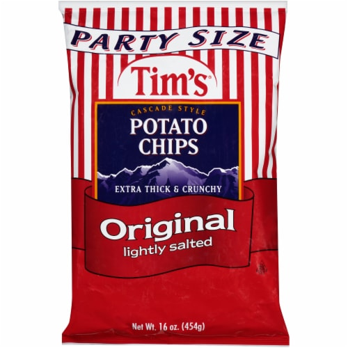 Tim's Orginal Chips Party Size Perspective: front
