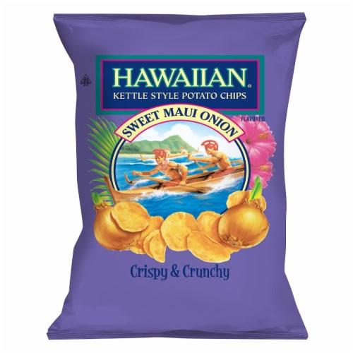 Hawaiian Sweet Maui Onion Kettle Style Potato Chips Perspective: front