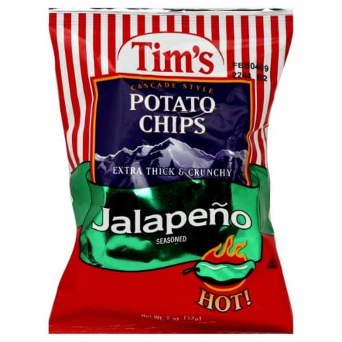 Tim's Jalapeno Potato Chips Perspective: front