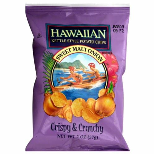 Tim's Hawaiian Sweet Maui Onion Kettle Chips Perspective: front