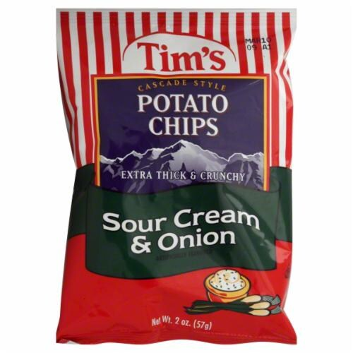 Tim's Sour Cream & Onion Chips Perspective: front