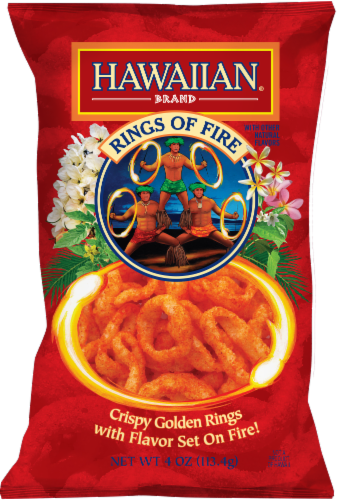 Hawaiian Rings Of Fire Onion Rings Snacks Perspective: front