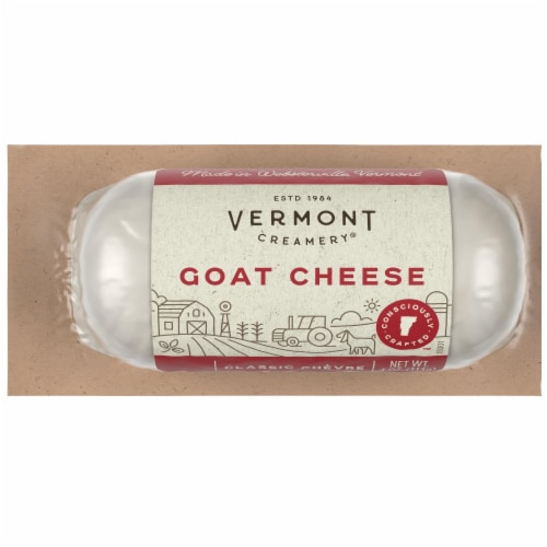 Vermont Creamery Classic Chevre Goat Cheese Log Perspective: front