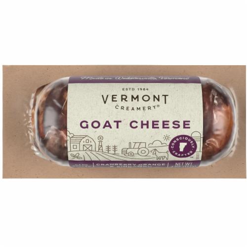 Vermont Creamery Cranberry Orange & Cinnamon Goat Cheese Log Perspective: front