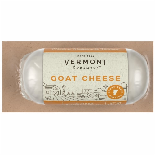 Vermont Creamery Clover Blossom Honey Goat Cheese Log Perspective: front